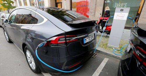 Tesla reports a big jump in profit.
