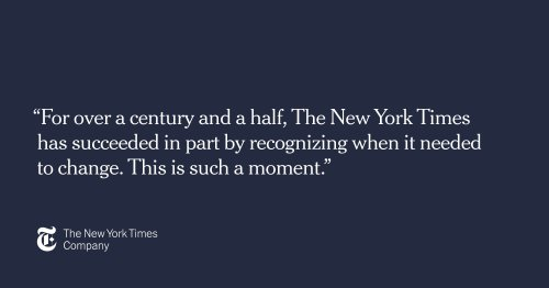 Making a More Diverse, Equitable and Inclusive New York Times