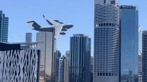 Footage of Brisbane's RAAF airshow rehearsal has spooked US viewers - NZ Herald