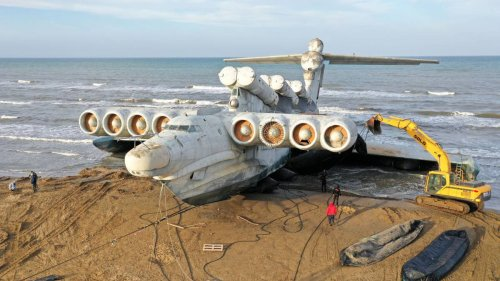Soviet 'Caspian Monster' jet plane reaches final resting place - NZ Herald
