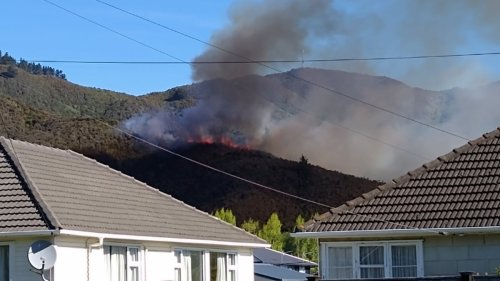 Aerial firefighting on hold after drone flies over Naenae blaze - NZ Herald