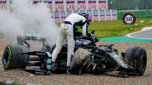 Motorsport: Mercedes pair rage after ugly crash as Max Verstappen claims crazy Imola Grand Prix - NZ Herald