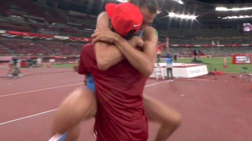 Tokyo Olympics 2020: Amazing scenes in high jump final as Mutaz Essa Barshim and Gianmarco Tamberi share gold - NZ Herald