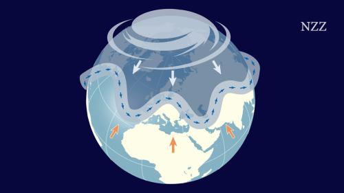 Noch verhält sich der Jetstream normal und verändert keine Wetterextreme – dafür sprechen jedenfalls Indizien aus Grönland