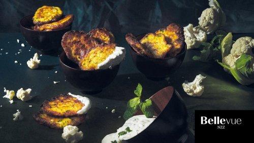 Blumenkohl-Fritters mit Dip