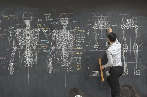 University Teacher Goes Viral For His Insanely Detailed Blackboard Drawings