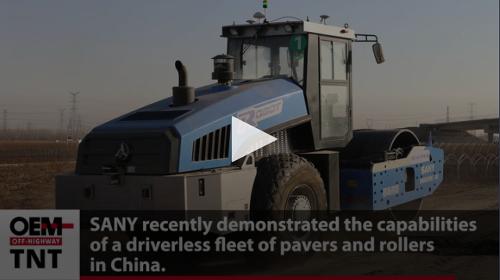 Technology News Tracker: SANY Demonstrates Autonomous Construction Equipment