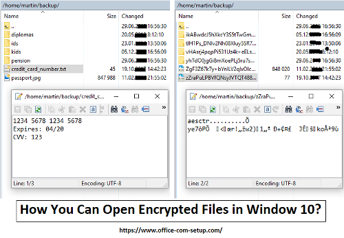 How You Can Open Encrypted Files in Window 10? - www.office.com/setup