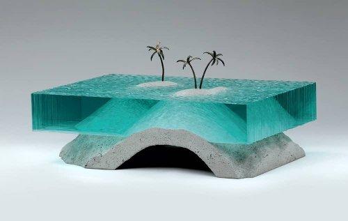 Mares de vidrio en las esculturas de Ben Young | Escultura