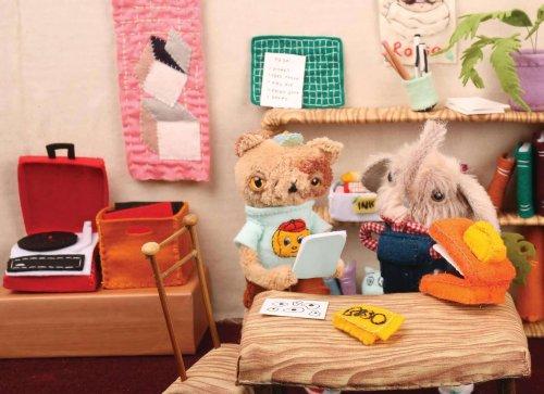 Encantadoras y esponjosas esculturas de felpa por Cat Rabbit   Arte