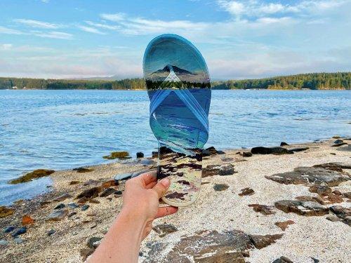 Intervención de paisajes por la eco-artista Mariah Reading   Arte