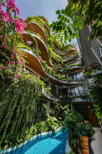 """City Oasis"", un edificio convertido en selva tropical en medio de Vietnam   Arquitectura"