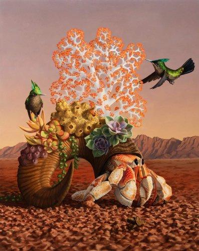 Imaginación surrealista de las maravillas de la naturaleza pintadas en oleo por Jon Ching   Arte