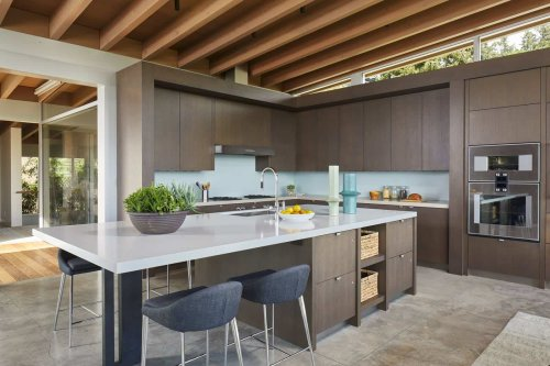 Tranquil modern home boasts indoor-outdoor living on Mercer Island