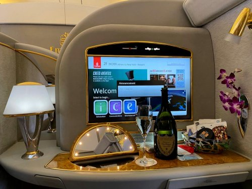 Review: Emirates 777 First Class Athens To Newark | One Mile at a Time