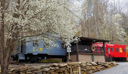 Spend The Night In An Authentic Railroad Caboose On North Carolina's Tuckasegee River