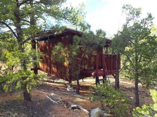 Sleep Among Towering Juniper and Pines At The Sunrise Treehouse In New Mexico