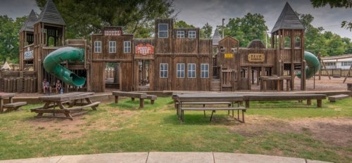 Keep The Kids Entertained For Hours At The HideOut, A Free Western-Themed Park In Oklahoma