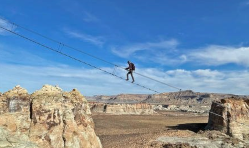 This Ladder In The Sky Is 400 Feet Above The Utah Desert, And You Only Have To Be Six Years Old To Climb It