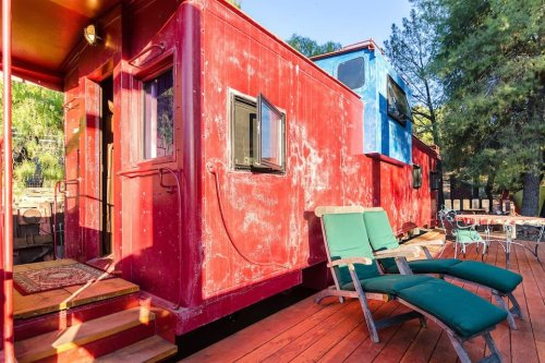 Spend The Night In An Authentic Rustic Train Caboose In The Middle Of Southern California's Santa Monica Mountains
