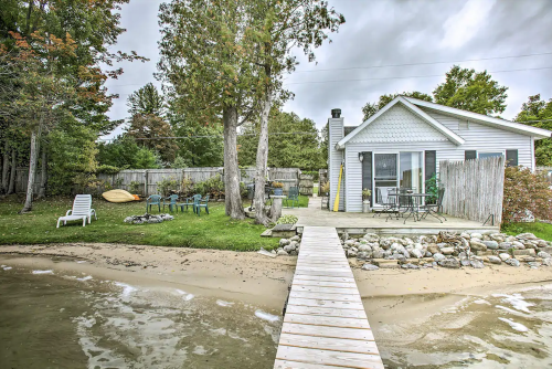 Nautical Charm Awaits When You Rent This Cottage On Little Traverse Lake In Michigan