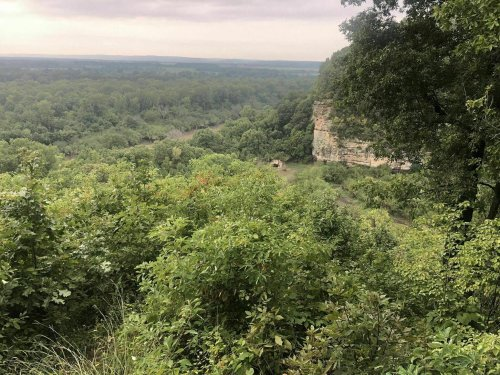 This Trail Leading To A Large Canyon Is Often Called The Grand Canyon Of Illinois
