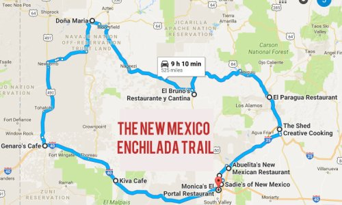 There's Nothing Better Than This Mouthwatering Enchilada Trail In New Mexico