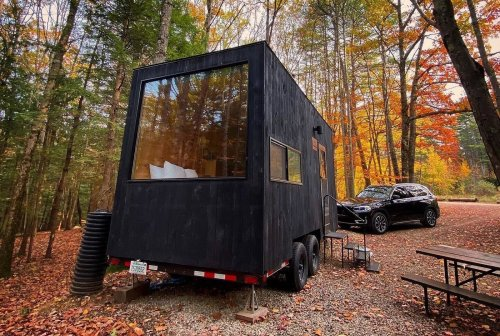 Stay In A Tiny Cabin In The Woods When You Book A Stay At Michigan's Getaway Barber Creek