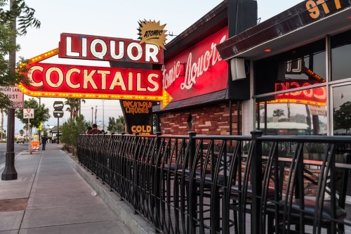 The Oldest Freestanding Bar In Vegas, Atomic Liquors In Nevada Is A Throwback To The Atomic Age