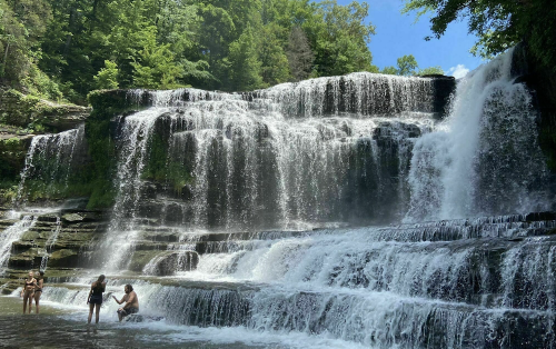 Hike Less Than A Mile To This Spectacular Waterfall Swimming Hole In Tennessee