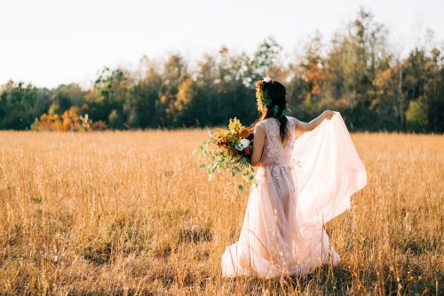 Channel Your Inner White Witch with These Bohemian Fall Wedding Dresses