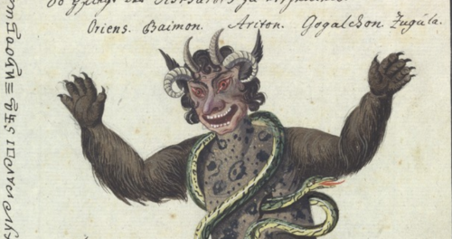 Exquisite Watercolors of Demons, Magic & Signs: Behold the Compendium Of Demonology and Magic from 1775