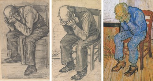 """Behold the Newly-Discovered Sketch by Vincent van Gogh Sketch, """"Study for Worn Out"""" (1882)"""