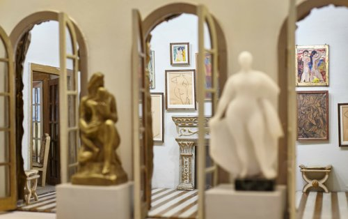 Discover the Stettheimer Dollhouse: The 12-Room Dollhouse Featuring Miniature, Original Modernist Art, Including Duchamp's Nude Descending a Staircase
