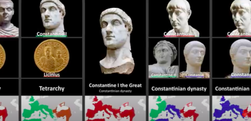 Every Roman Emperor: A Video Timeline Moving from Augustus to the Byzantine Empire's Last Ruler, Constantine XI