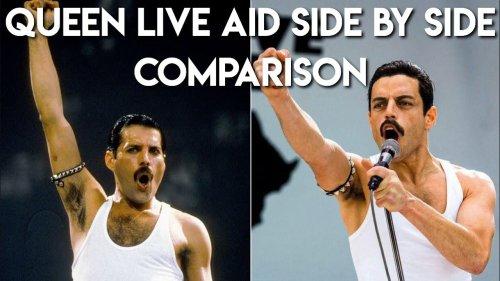 Freddie Mercury & Rami Malek's Live Aid Performance: A Side-By-Side Comparison