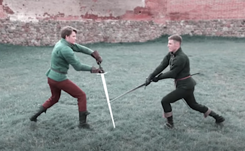 Watch Accurate Recreations of Medieval Italian Longsword Fighting Techniques, All Based on a Manuscript from 1404