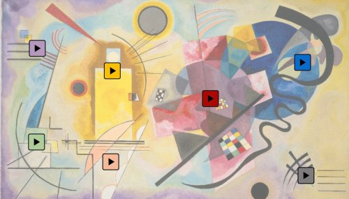 """Play a Kandinsky: A New Simulation Lets You Experience Kandinsky's Synesthesia & the Sounds He May Have Heard When Painting """"Yellow-Red-Blue"""""""