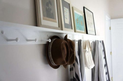 The Hallway Storage Standard: Shaker Peg Rails - The Organized Home