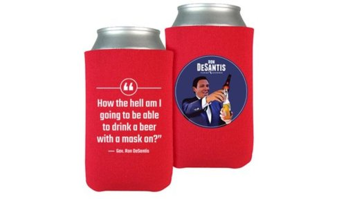 'You're on your own': As Florida ICUs swell and CDC urges masks, DeSantis sells mask-mocking koozies | Commentary
