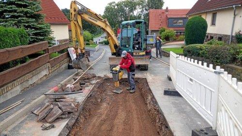 Am Wochenende rund fünfzig Meter Kabel in Pößneck ausgetauscht