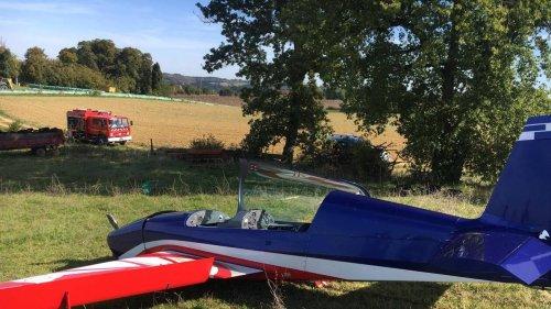 Atterrissage forcé pour un avion de voltige de l'Armée de l'air