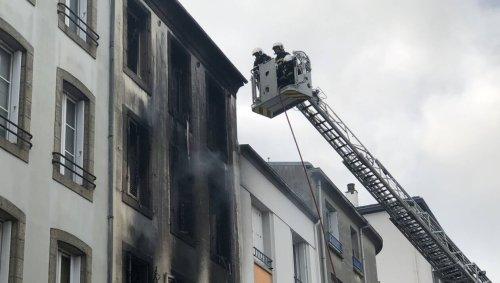 Brest. Un immeuble entièrement détruit par le feu, rue Vauban