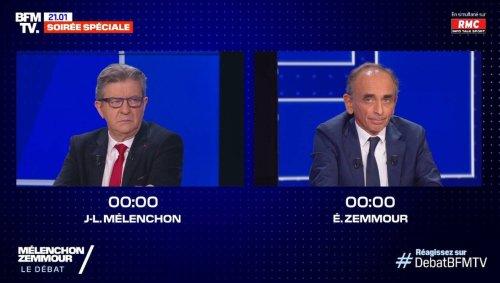 On a regardé le débat entre Jean-Luc Mélenchon et Eric Zemmour, voici les moments clés