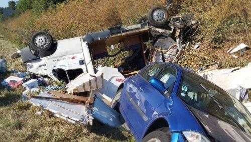 Sèvremoine. Accident spectaculaire mais blessures légères à Saint-André-de-la-Marche   Courrier de l'Ouest