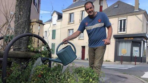 Au Mans, Xavier Delenclos embellit le bout de trottoir devant chez lui