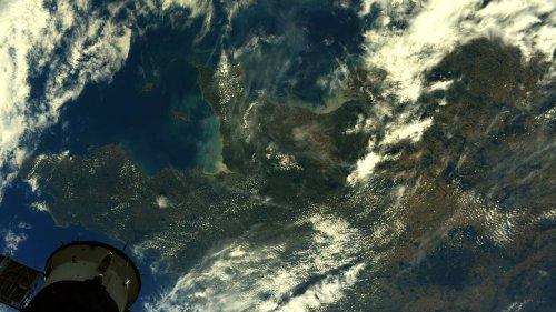 À quoi ressemblent La Normandie et la Bretagne depuis l'espace ? La photo de Thomas Pesquet