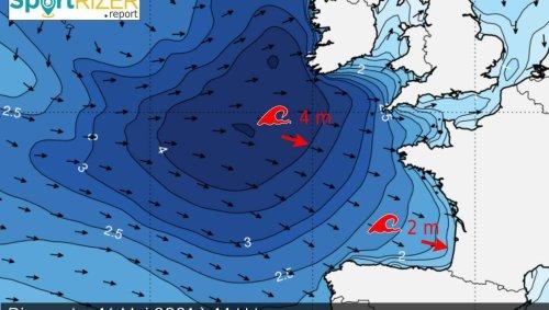 Surf. La houle en Atlantique : Lacanau, La Torche... Les hauteurs de vague pour ce week-end