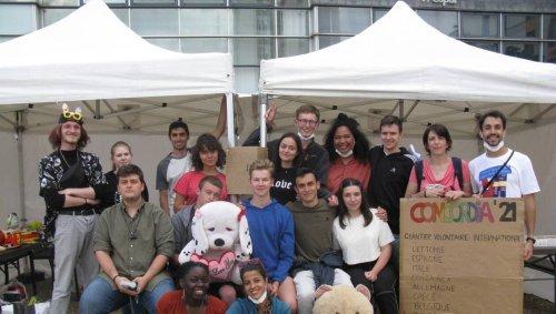 EN IMAGE. De jeunes européens plongent dans le quartier des Sablons au Mans