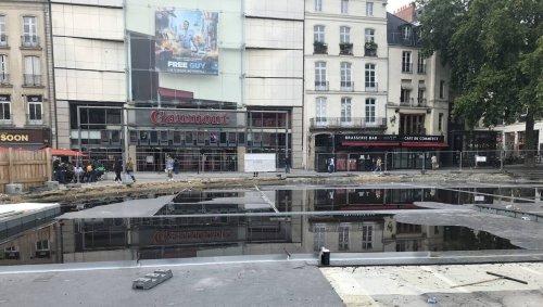 Nantes. À cause des travaux, la place du Commerce est sous l'eau